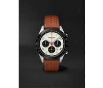 TimeWalker Manufacture Automatic Chronograph 43mm Stainless Steel, Ceramic and Leather Watch, Ref. No. 118488