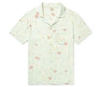 Kona Camp-Collar Printed Voile Shirt