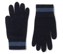 Striped Wool-Blend Gloves