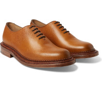 Triple-welted Grained-leather Oxford Shoes