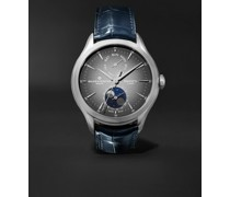 Clifton Baumatic Automatic Moon-Phase 42mm Stainless Steel and Alligator Watch, Ref. No. M0A10548