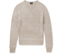Mulberry Silk And Mohair-blend Sweater