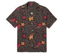 Batik Canty Camp-collar Printed Cotton Shirt