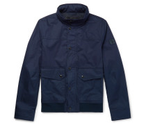 Coated-cotton Bomber Jacket