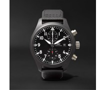 Pilot's TOP GUN Automatic Chronograph 44mm Ceramic and Leather Watch, Ref. No. IW389001