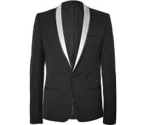 Black Slim-fit Wool Tuxedo Jacket