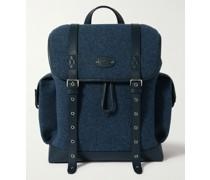 Heritage Leather-Trimmed Felt Backpack