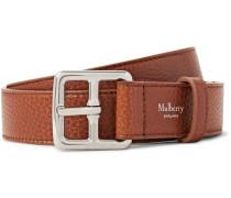 3cm Brown Boho Full-grain Leather Belt