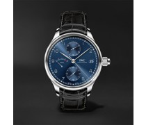 Portugieser Monopusher Edition Hand-Wound 46mm Stainless Steel and Alligator Watch, Ref. No. IW515301