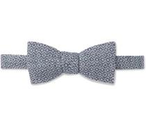 Culcross Pre-Tied Linen-Jacquard Bow Tie