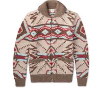Huron Shawl-collar Wool And Alpaca-blend Zip-up Cardigan