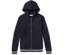 Mathers Contrast-trimmed Waffle-knit Cotton Hoodie