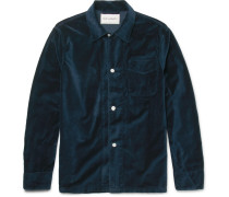 Cotton-velvet Overshirt