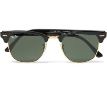 Clubmaster Square-frame Acetate And Gold-tone Sunglasses