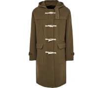 Extended Wool-blend Hooded Duffle Coat