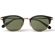 Round-frame Acetate And Gold-tone Metal Sunglasses