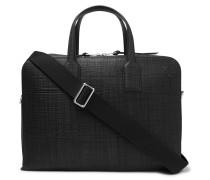 Goya Cross-grain Leather Briefcase