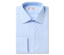 Blue Double-cuff Cotton Shirt