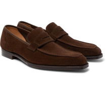 George Full-Grain Leather Penny Loafers
