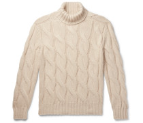 Oversized Cable-Knit Cashmere Rollneck Sweater