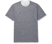 Double-layer Cotton-jersey T-shirt