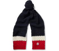 Colour-block Knitted Scarf