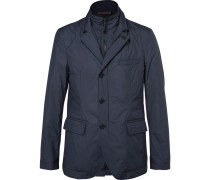 Slim-fit Water-resistant Shell Jacket With Detachable Bib