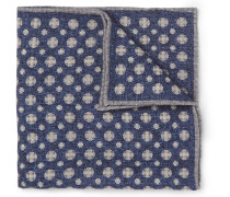 Medallion-print Wool Pocket Square