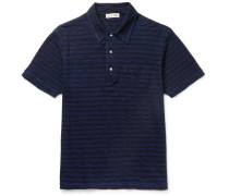 Striped Slub Cotton-jersey Polo Shirt
