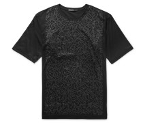 Slim-fit Printed Cotton-jersey T-shirt