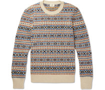Fair Isle Wool, Mohair And Silk-blend Sweater