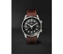 Polaris Automatic Stainless Steel and Leather Watch, Ref. No. Q9008471