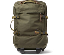 Dryden 56cm Leather-Trimmed CORDURA Carry-On Suitcase