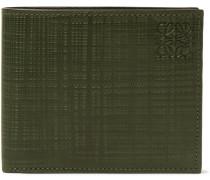 Embossed Cross-grain Leather Billfold Wallet