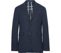 Blue Slim-fit Woven Blazer