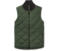 Koji Quilted Cotton-blend Down Gilet
