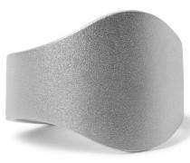 Cigar Brushed Sterling Silver Ring