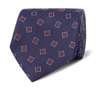 8cm Woven Mulberry Silk-twill Tie
