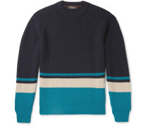 Lexington Striped Ribbed Baby Cashmere Sweater