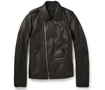 Stooges Grained-leather Jacket