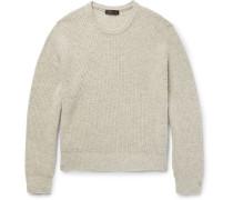 Nates Ribbed Camel Hair Sweater