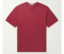 Embroidered Cotton and Silk-Blend T-Shirt