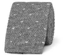 5cm Polka-dot Knitted Cotton Tie