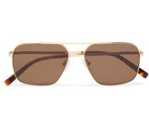 Shtarker Sun Aviator-style Gold-tone Sunglasses