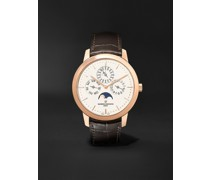 Traditionnelle Perpetual Calendar Automatic 41mm 18-Karat Pink Gold and Alligator Watch, Ref. No. 43175/000R-9687