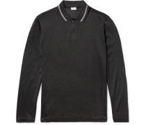 Cotton And Silk-blend Piqué Half-zip Polo Shirt