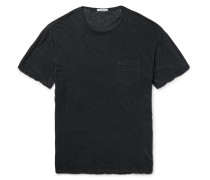 Slub Linen And Cotton-blend T-shirt