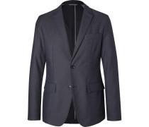 Blue Narvik Slim-fit Cotton-blend Twill Blazer