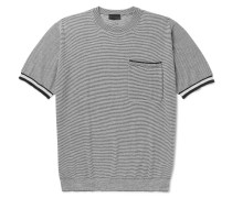 Striped Knitted Wool, Cotton And Silk-blend T-shirt