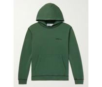Logo-Print Recycled Fleece-Back Cotton-Jersey Hoodie